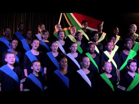 South African Cantare Children's Choir sings «Nkosi Sikelel' iAfrika»