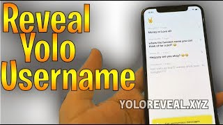 Reveal yolo messages | Snapchat yolo reveal : How to see sender's username (PROOF) WORKING METHOD