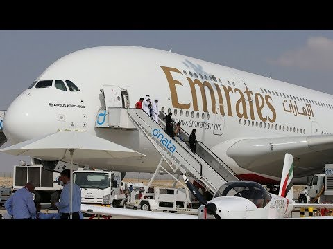 Emirates Airbus A380 at Dubai Airshow 2017 : Jetline Marvel