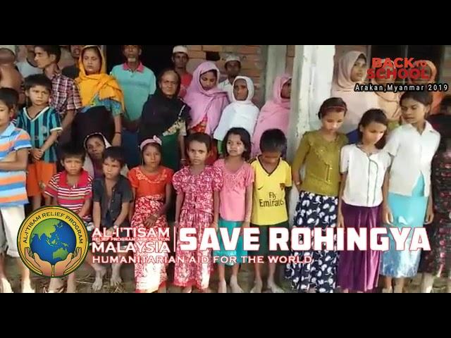 Back to School Save Rohingya Al-I'tisam Relief Program 2019