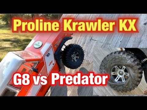 Proline Crawler Tire Test G8 vs Predator with the Gen8 Scout