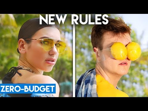DUA LIPA WITH ZERO BUDGET! (New Rules PARODY)