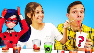 Видео приколы - Челлендж с напитками. Что выберут Вика и Федор?  - Смешные игры онлайн