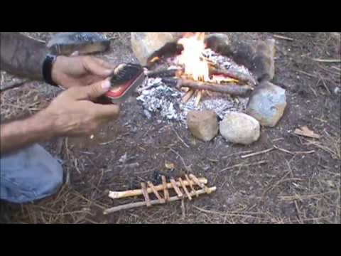how to make waterproof pine resin fire lighting sticks,a renewable primitive resource