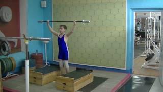 Маклаков Тимур, 13 лет, вк 46 Отработка подрыва с прыжком на плинты