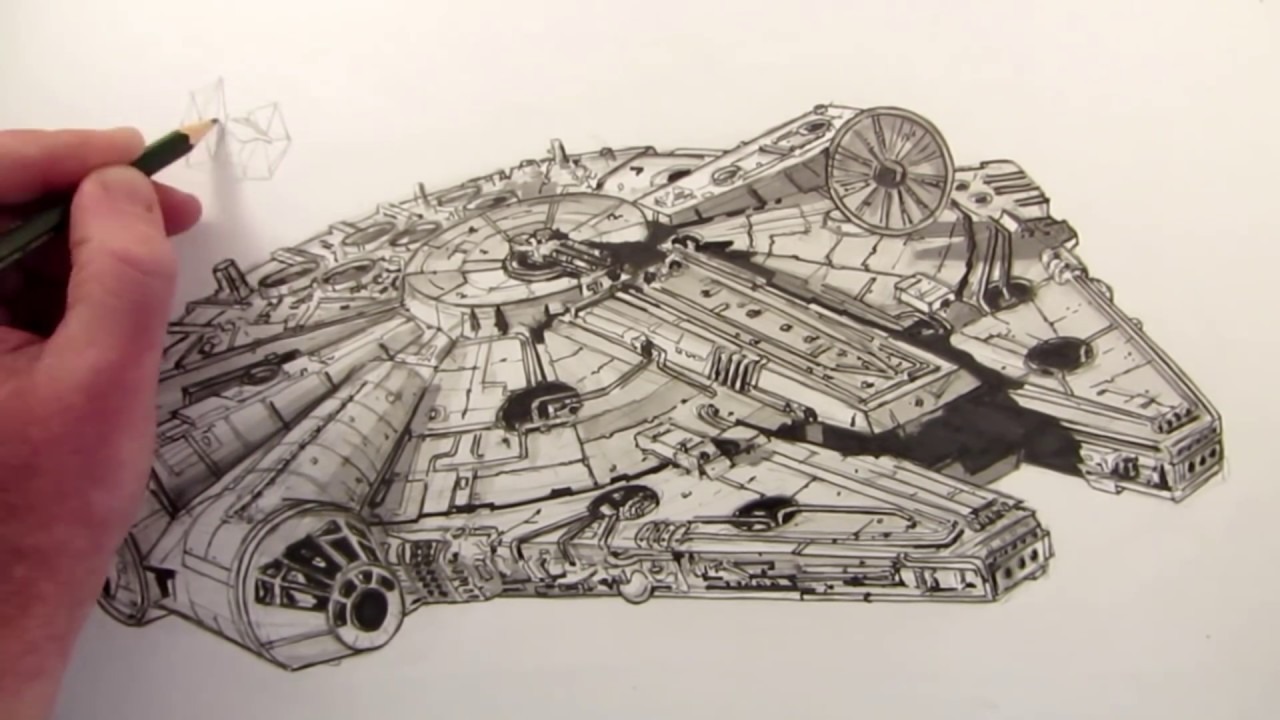 How To Draw The Millennium Falcon: Star Wars Fan Art
