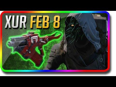"Destiny 2 - Xur Location & Exotic Armor Perk Rolls ""Skyburner's Oath"" 2/8/2019 (Xur February 8) thumbnail"