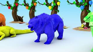 Learn Colors Learn Animals Eat Fruit Color Cartoon for Kids   Colours Animals For Children