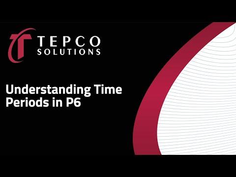 TEPCO - Understanding Time Periods in P6
