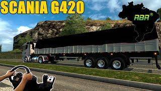 SCANIA G420 RONCO DIRETO - MAPA RBR - EURO TRUCK SIMULATOR 2 - G27!!!