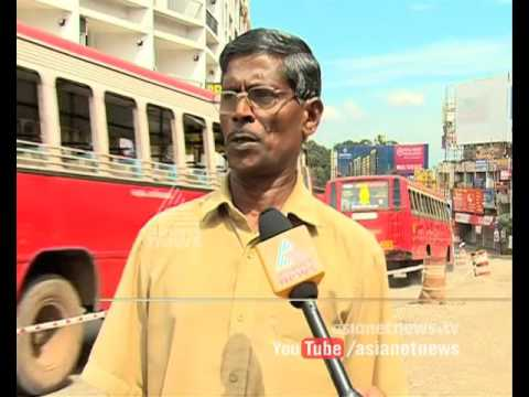 Traffic Jam due to the pathetic condition of roads in Kottayam | Avar Parayatte 1 Dec 2015