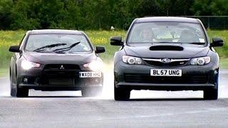 Mitsubishi Evo X FQ360 vs Subaru Impreza WRX STi  #TBT - Fifth Gear