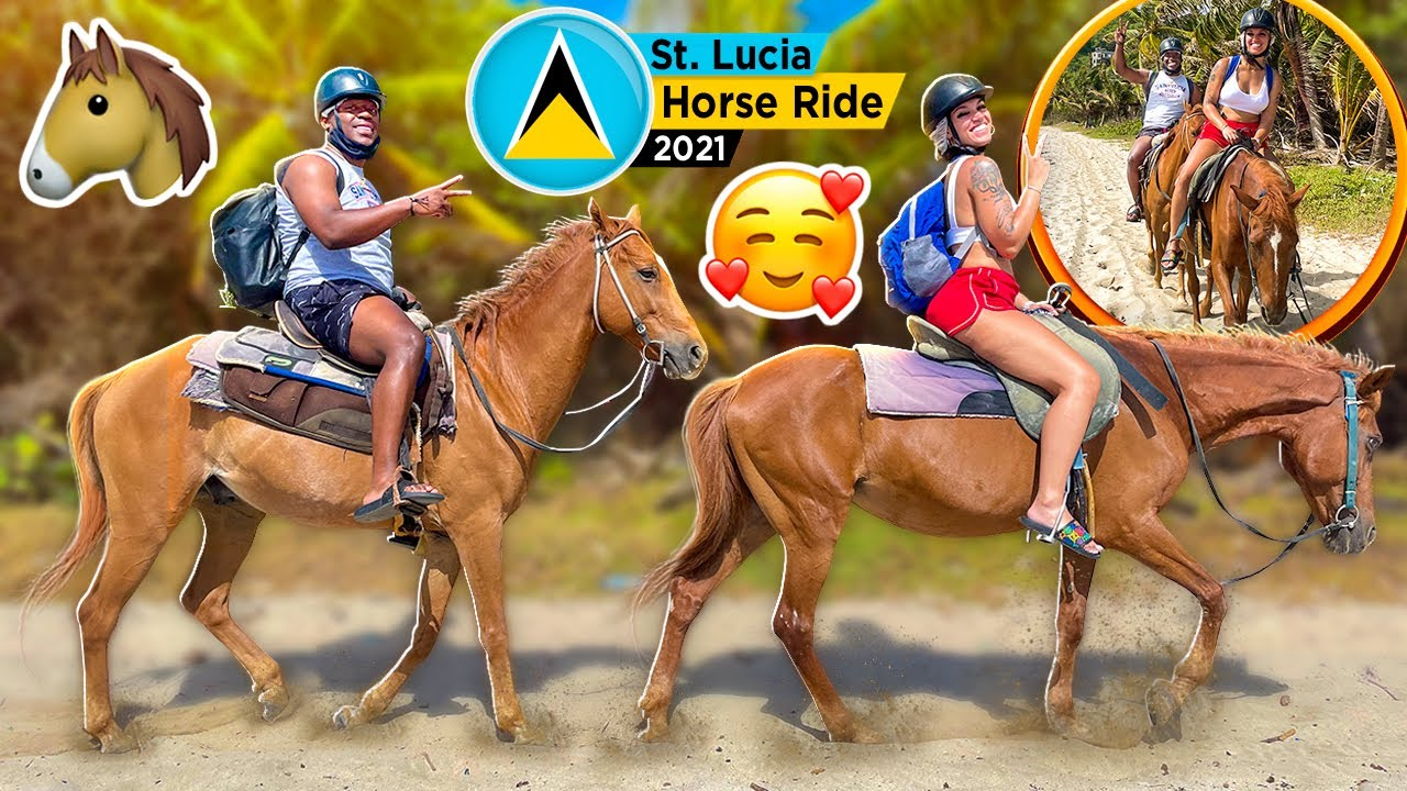 HORSEBACK RIDING IN ST. LUCIA WITH THE PRINCE FAMILY 🥰