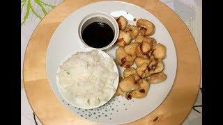 Reteta - Pui cu ghimbir, usturoi si sos japonez Tonkatsu