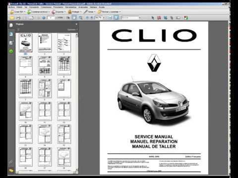 Renault Megane III workshop service manual Télécharger