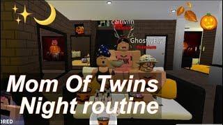 Roblox Bloxburg Mamma di gemelli autunno notte di routine