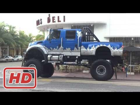 """The World's Largest """"Street Legal"""" 4 X 4 Truck in South Beach Miami"""