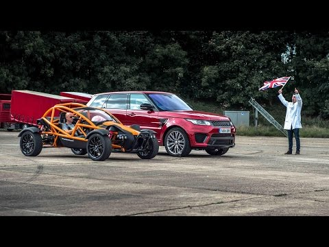Ariel Nomad Vs RR SVR - Top Gear: Drag Races