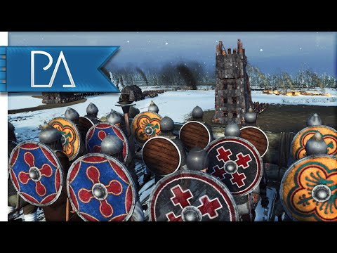 SNOWY FORTRESS UNDER SIEGE - Medieval Kingdom Total War 1212 AD Gameplay
