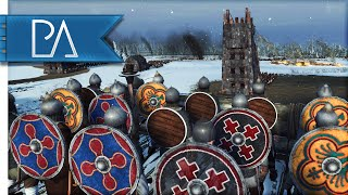 SNOWY FORTRESS UNDER SIEGE - Medieval Kingdom Total War 1212 AD Gameplay
