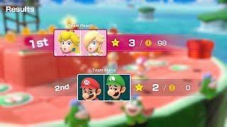 Super Mario Party Partner Party #93 Watermelon Walkabout Peach & Rosalina vs Mario & Luigi