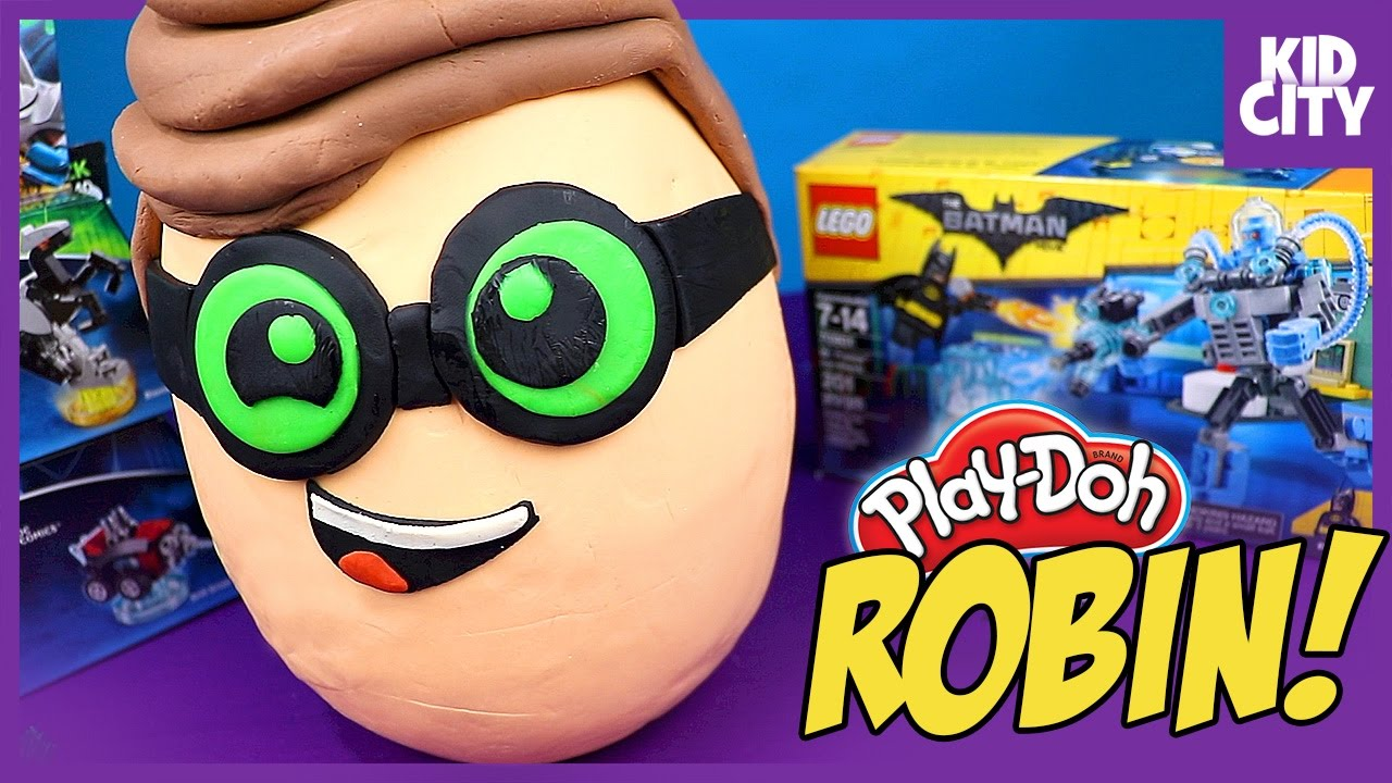 The Lego Batman Movie Robin Play Doh Surprise Egg With
