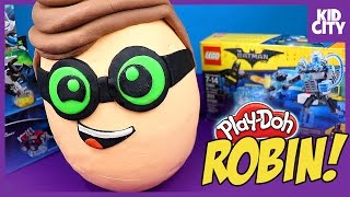 The Lego Batman Movie ROBIN Play-Doh Surprise Egg with Blind Bag MiniFigures by KIDCITY