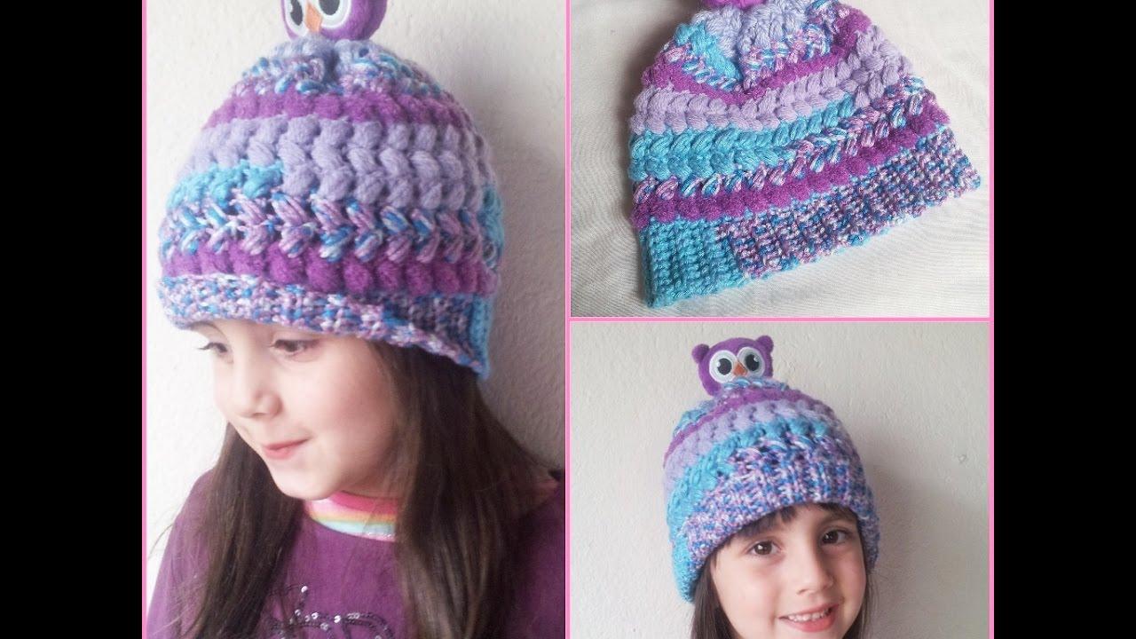 Touca infantil em Croche com Gorro Kids   Children s crochet cap  Crochet  beanie 4376b73bb2d