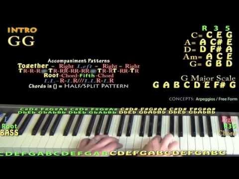 Jingle Bells (Christmas) Piano Cover Lesson w/ Lyrics/Chords