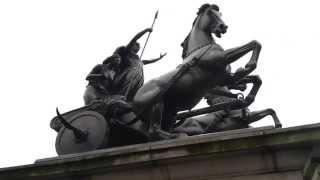 Boadicea statue near Big Ben in London.