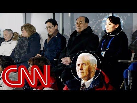 Mike Pence sat near Kim Jong Un's sister at Olympics