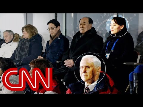Mike Pence sat near Kim Jong Un's sister at Olympics