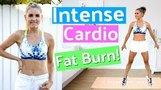Intense Cardio Workout to BURN FAT  - 10 Minute | Rebecca Louise