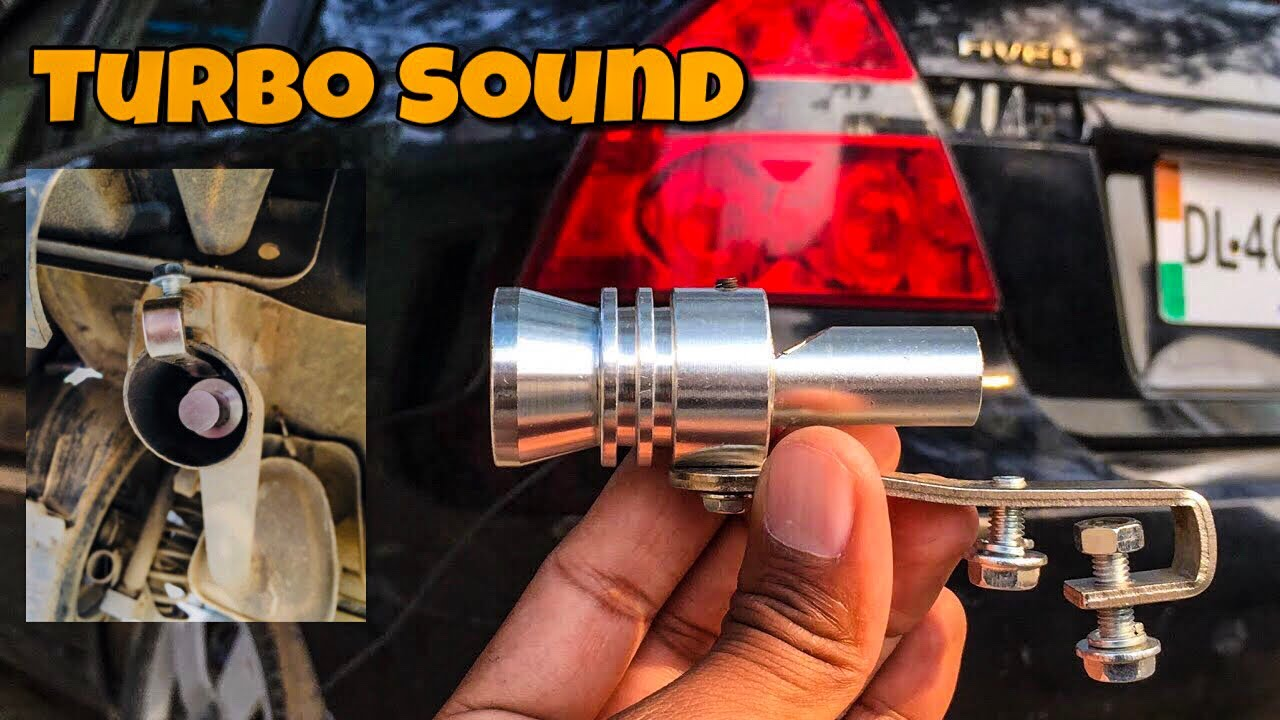 TURBO SOUND Whistle Effect For Car Exhaust | Techno Khan