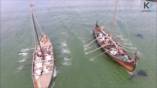Wyścigi łodzi wikińskich. Wolin 2016 / Viking's ships race 2016