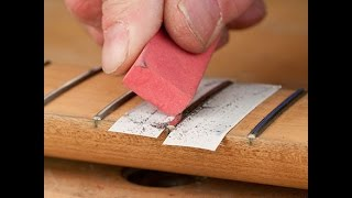 Clean Your Frets With Fret Eraser & Fingerboard Guard By Scott Grove