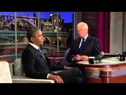 Barack Obama on David Letterman FULL