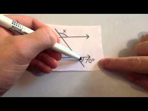 Angles parallel lines  Corbettmaths