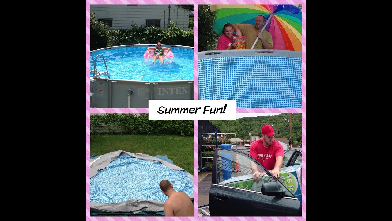 new pool set up and review intex pool 16x48 summer 2013 youtube