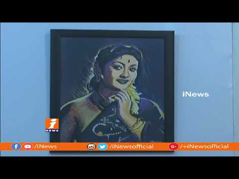 Art Show Of Mahanati Savitri By BFA Animation Students at JNAFA University | Hyderabad | iNews