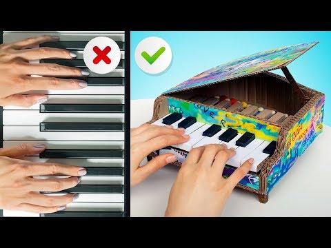 Как построить потрясающее пианино из картона