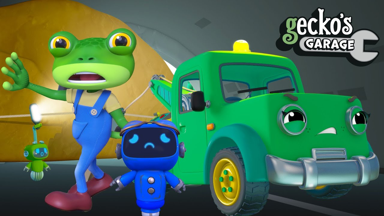 TRAPPED in the Cave!! | Gecko's Garage FULL EPISODES | Baby Truck video for kids
