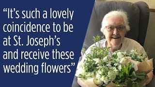 Royal wedding flowers delivered to special hospice patient