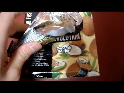 Review Raw Revolution Coconut Delight Organic Live Food Bar Kosher Gluten Dairy Peanut Natural Free