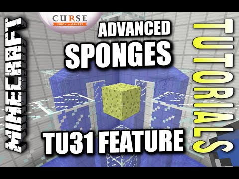 Minecraft PS4 - SPONGES - TU31 FEATURE - ADVANCED - Tutorial ( PS3 / XBOX )