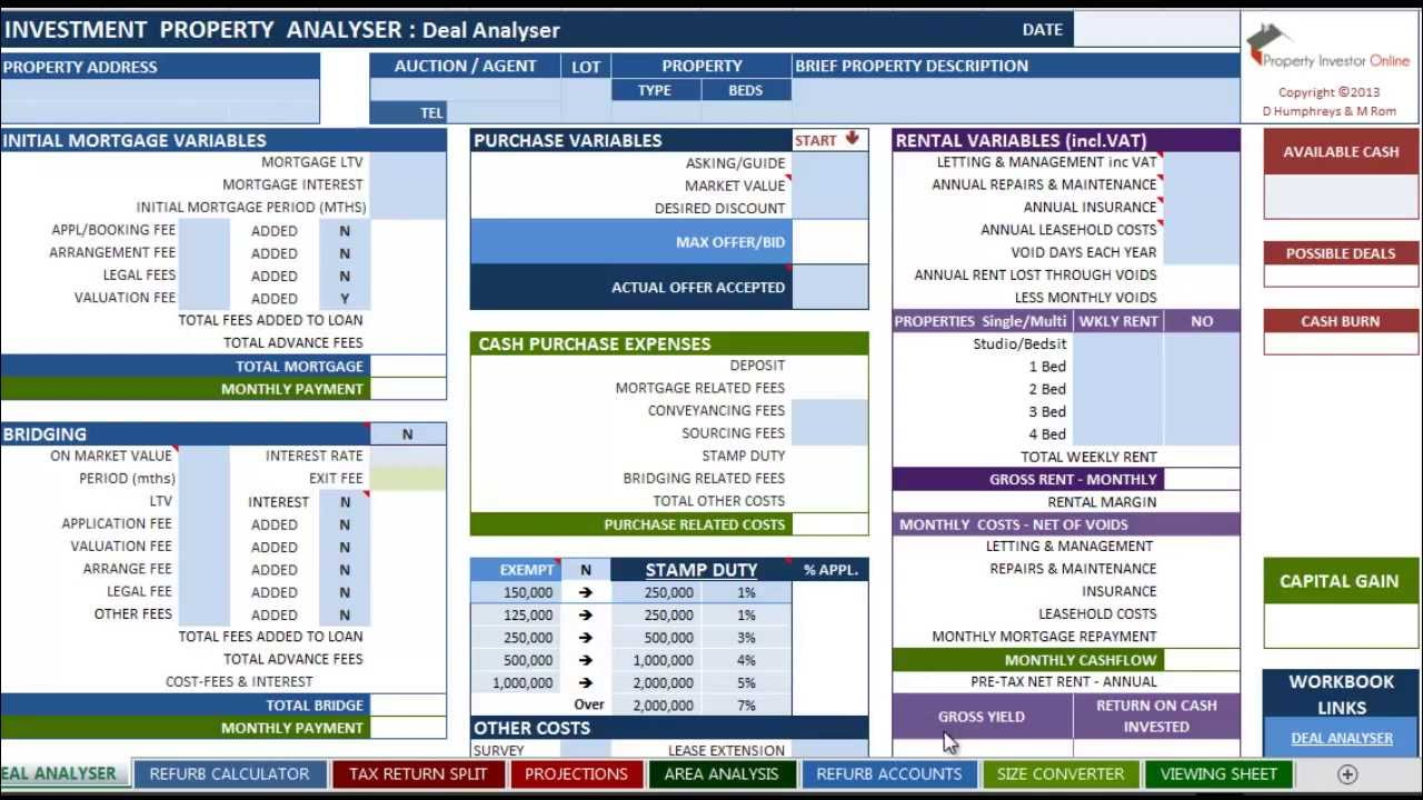 The Investment Property Analyser - Part 1: Deal Analyser - YouTube