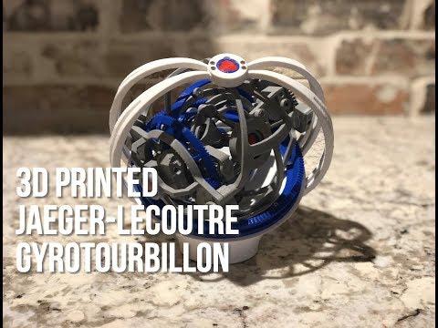 3D Printed Jaeger-LeCoutre Gyrotourbillon