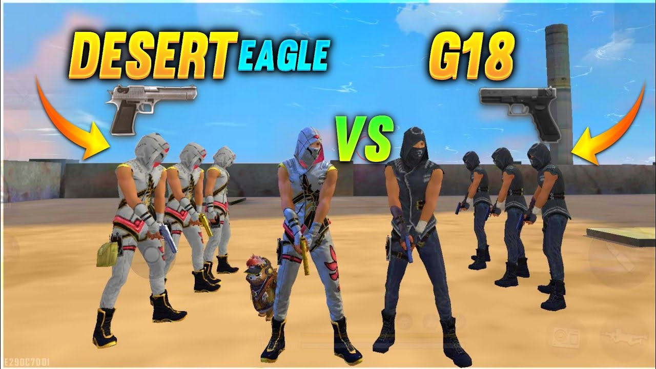 DESERT EAGLE vs G18 FACTORY CHALLENGE😂|4 VS 4 WHO WILL WIN ?factoryfreefire Total gaming  A_S GAMING