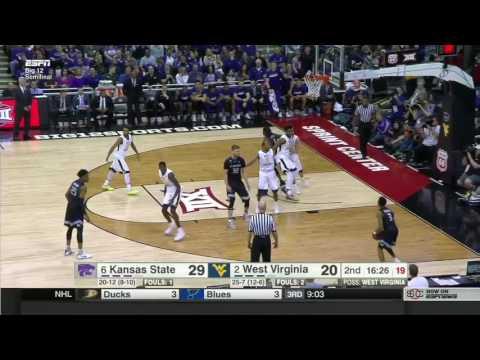 West Virginia vs Kansas State   2016-17 Big 12 Men's Basketball Highlights