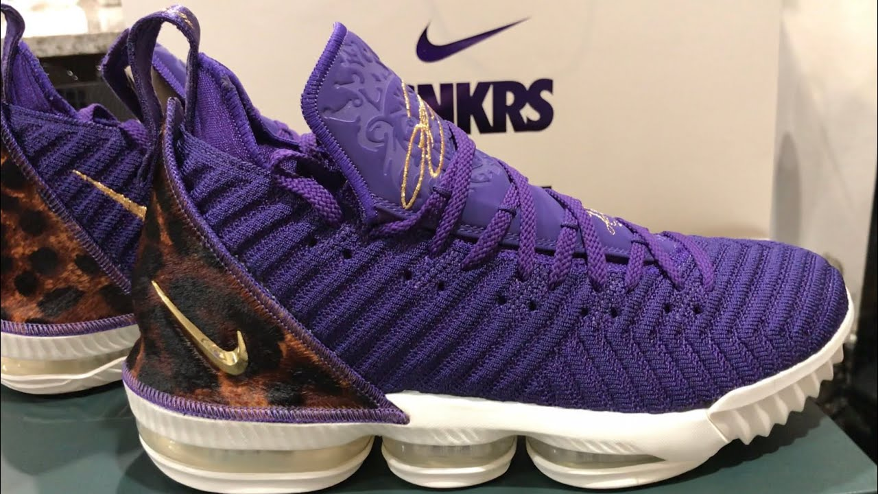 9bafc5cbc6633 Nike Lebron 16 King Court Purple Review (Lakers Opening Night) - YouTube